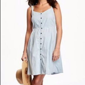 Old Navy || Chambray Fit & Flare Cami Dress NWT M